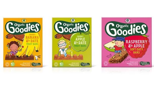 Organix launches fruit bars for children, as it rolls out pack redesign