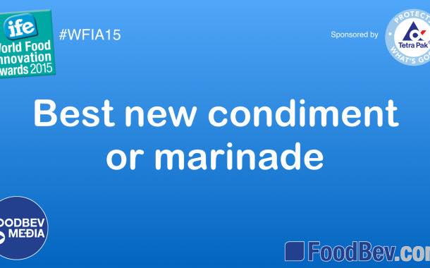 VIDEO: IFE World Food Innovation Awards – condiment and marinade trends