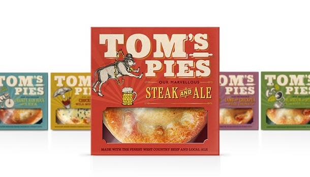 Tom's Pies reveals brand and pack redesign to accompany Ocado listing