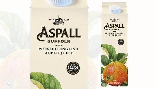 Aspall relaunches pressed English apple juice in new Tetra Pak cartons