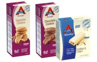 Atkins launches new low-carbohydrate, low-sugar cookies and protein bar