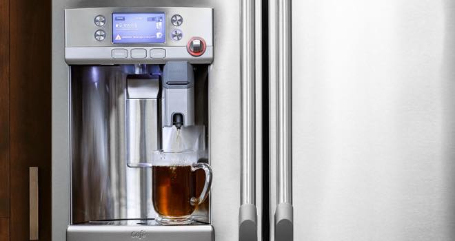 GE starts new trend with refrigerator-integrated brewing system
