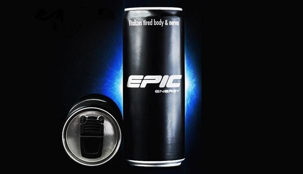 Epic launches energy drink in re-sealable can