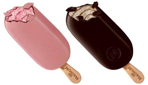 Magnum launches new pink raspberry and black espresso ice cream flavours