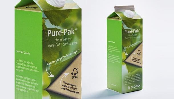 Elopak and Sabic collaborate on 'virtually 100% renewable' carton