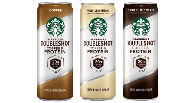 Starbucks launches Doubleshot coffee with 20g of protein in each can