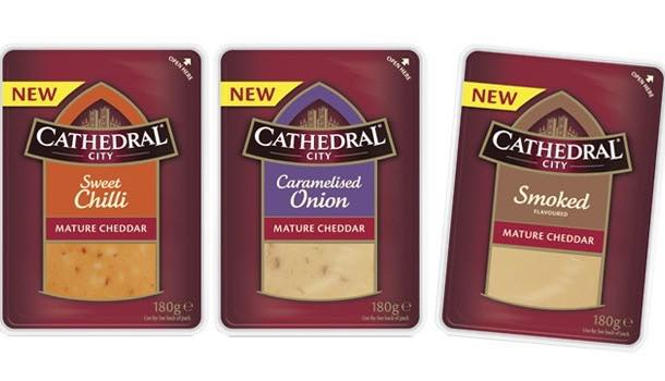 Cathedral City extends block cheddar range with three new flavours