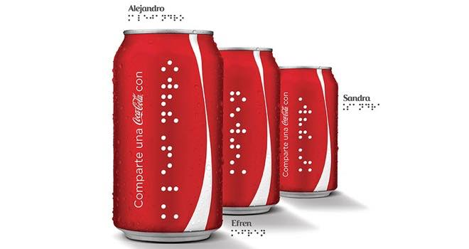 Coca-Cola extends Share a Coke campaign with braille cans for the blind