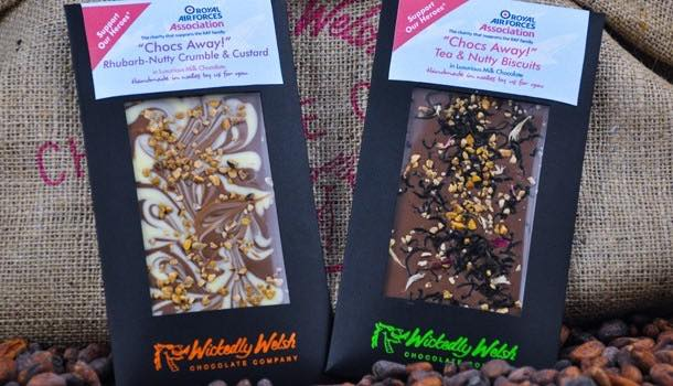 Wickedly Welsh launches new chocolate flavours in aid of air force charity