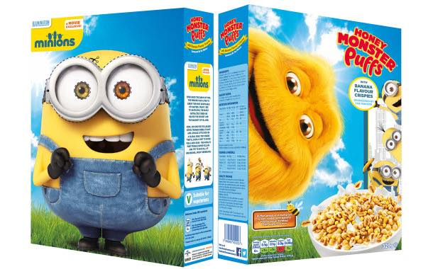 Licensing partnership puts Minions on Honey Monster Puffs