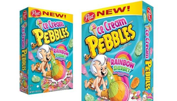 Post Foods launches new sherbet-flavoured Ice Cream Pebbles cereal