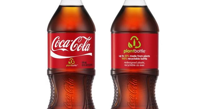 Coca-Cola unveils first PlantBottle made entirely from plant materials