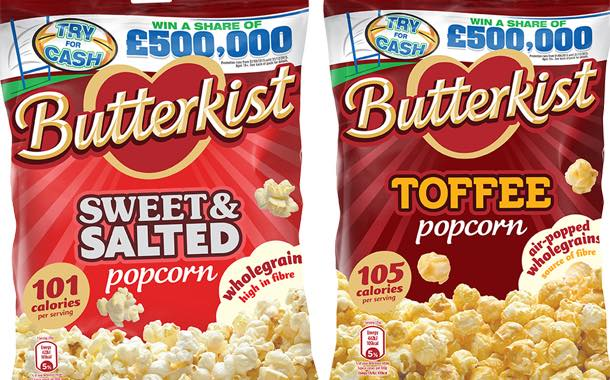 Butterkist offers £500,000 as part of new on-pack promotion