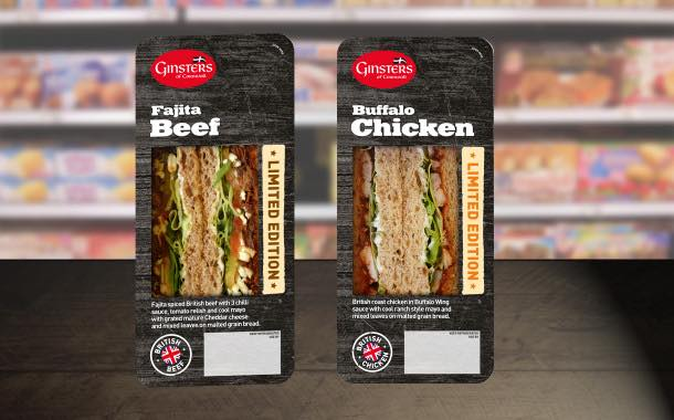 Ginsters rolls out two street food-inspired sandwiches