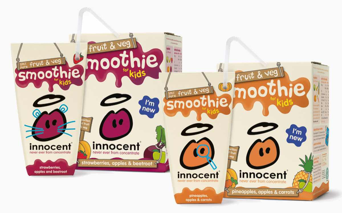 Innocent launches fruit and vegetable smoothies for children
