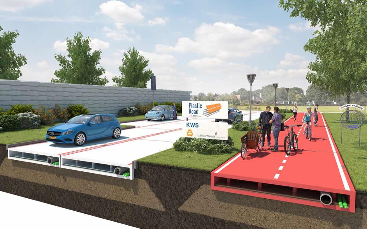 Dutch firm to test road made out of recycled plastic packaging