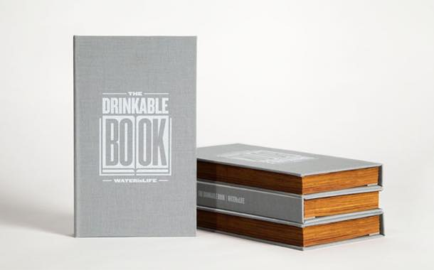 Silver- and copper-lined book purifies contaminated water