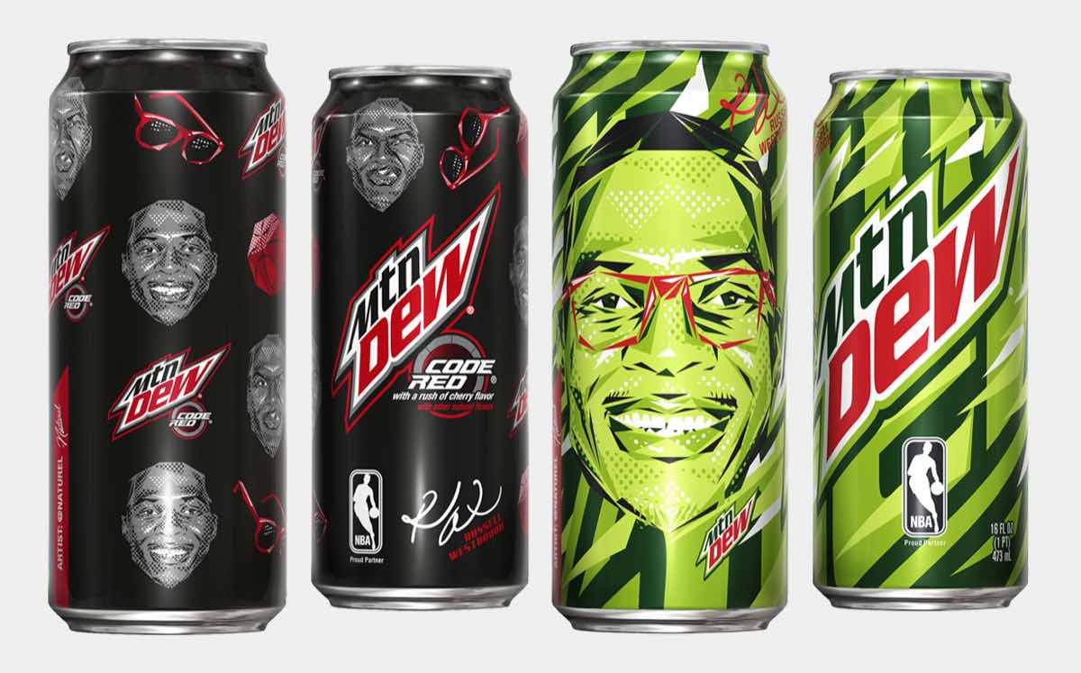 Mtn Dew releases cans featuring face of Russell Westbrook