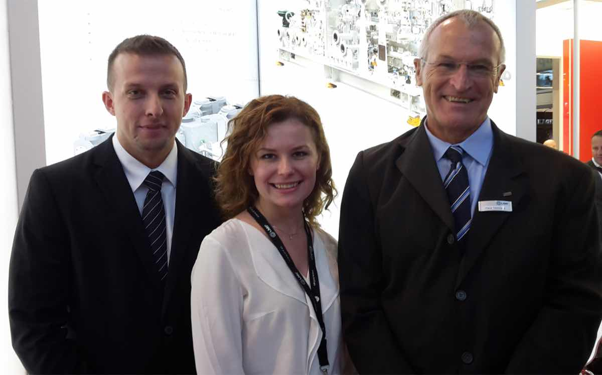 LMF's (l-r) sales manager, Damir Pilipovic; head of marketing, Olga Malina; and LMF Germany's Klaus Teichmann.