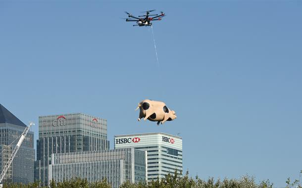 Orchard Pig experiments with flying pig drone delivery service
