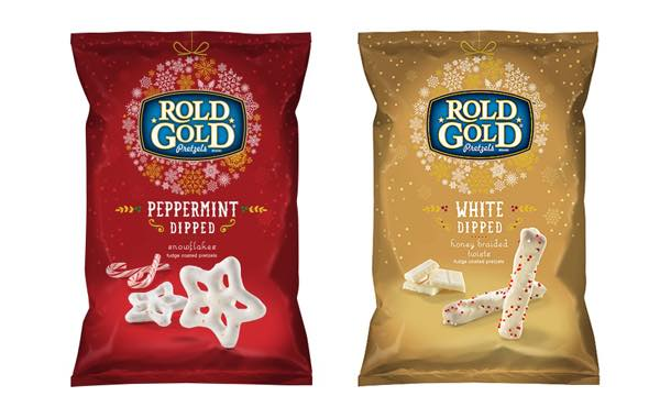 Rold Gold releases four holiday-edition dipped pretzels in the US