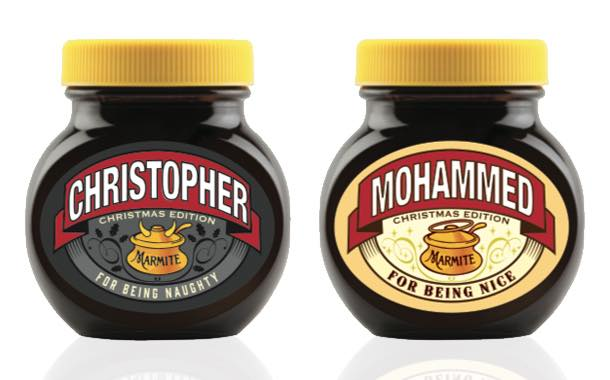 Marmite launches personalised 'naughty and nice' jars