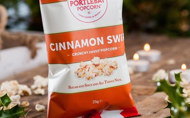 Portlebay Popcorn launches seasonal cinnamon swirl variety