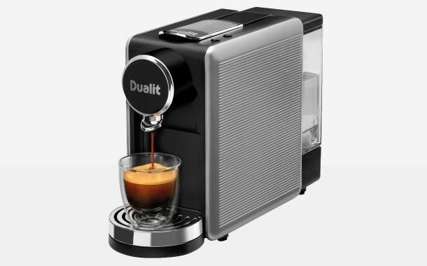 Dualit launches Lusso drop-through coffee capsule machine
