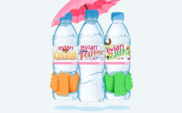 Evian releases cocktail-themed packs in bid to 'brighten January'