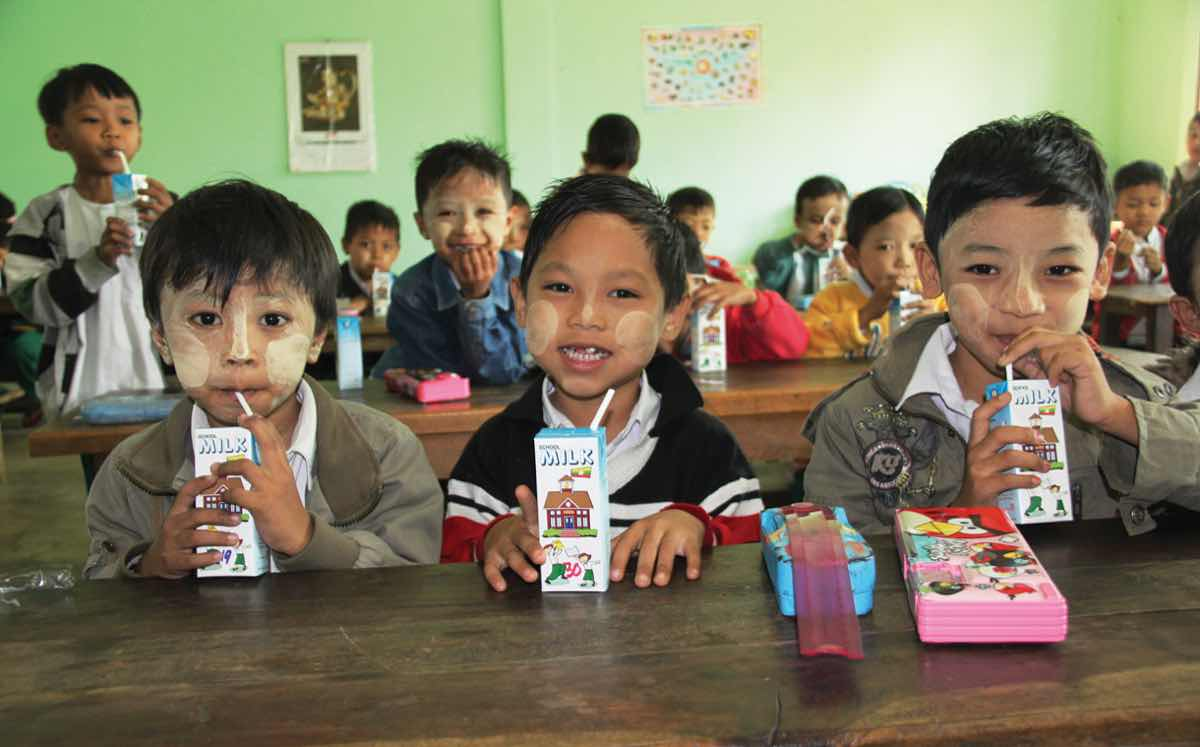 Tetra Pak has worked with the government of Myanmar to promote milk consumption in Burmese schools.