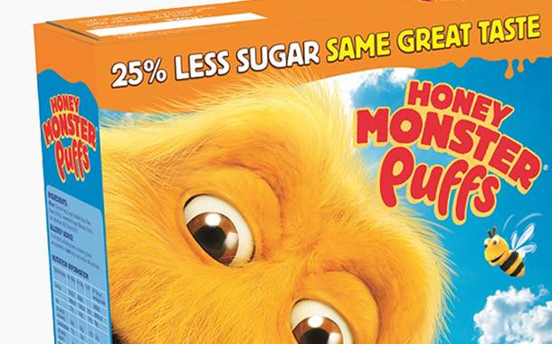 Halo Foods cuts sugar in Honey Monster Puffs by 25%