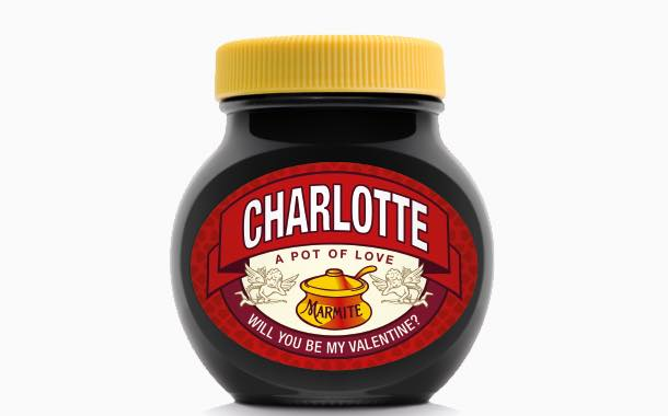 Marmite offers consumers personalised jars for Valentine's