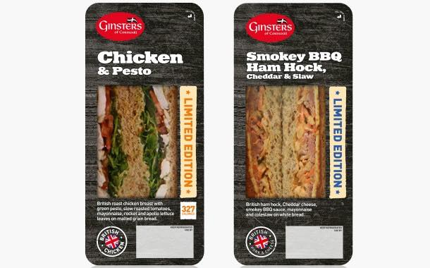 Ginsters launches two limited-edition sandwich flavours