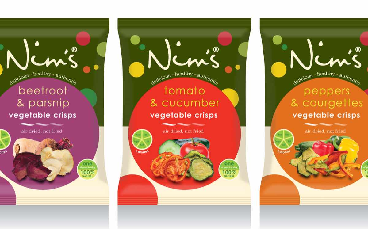 Nim's Fruit Crisps launches UK's 'first air-dried vegetable crisps'
