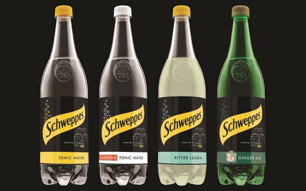Schweppes launches 'bold' pack design for its range of products