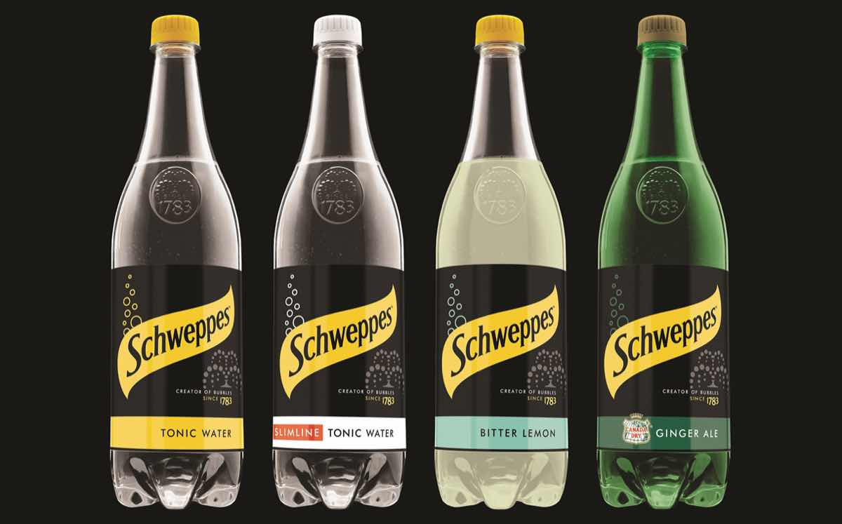 schweppes launches  u0026 39 bold u0026 39  pack design for its range of products