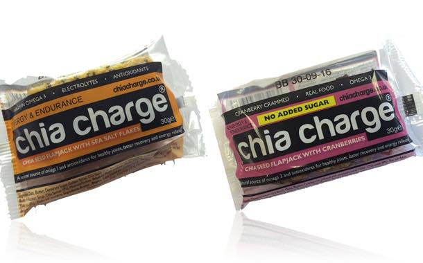 Chia Charge adds compact sports bars that can be eaten 'on the run'
