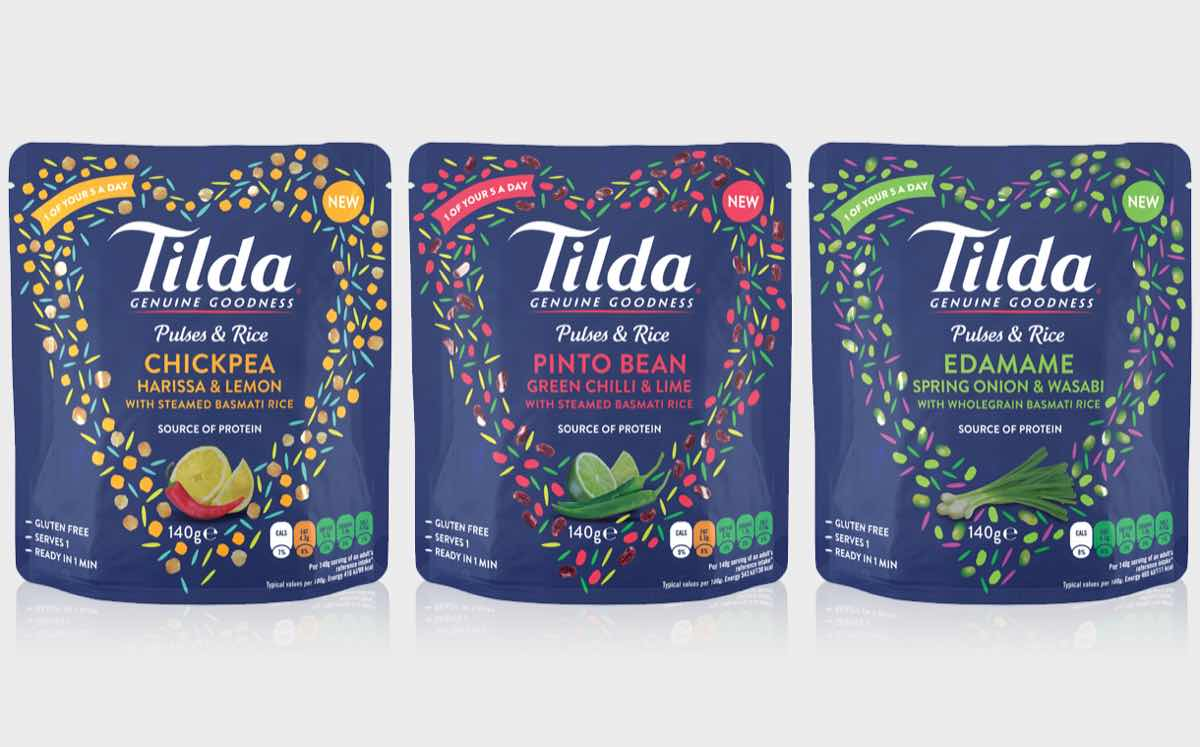 Rice brand Tilda introduces range of pulse and rice blends