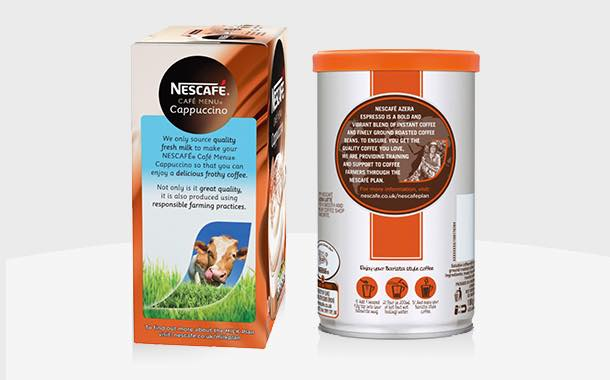 Nescafé boosts coffee brands with on-pack milk commitment
