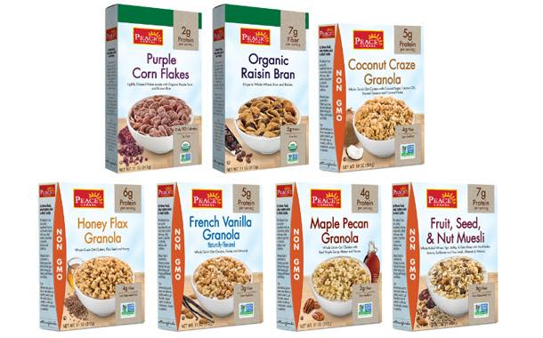 Peace Cereal to debut new lines of organic cereal and