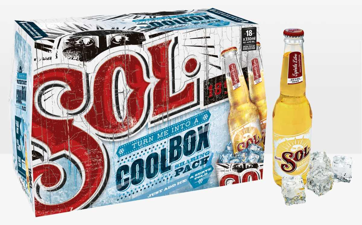Heineken launches boxes of Sol that open out into a cool box