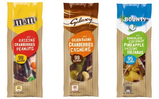 New M&M's, Bounty and Galaxy trail mixes