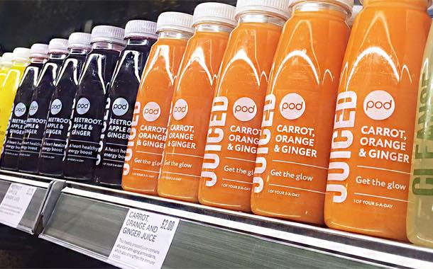 Food retailer Pod launches range of juices made with 'wonky fruit'
