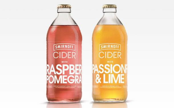Smirnoff expands into cider with launch of two new fruit ciders