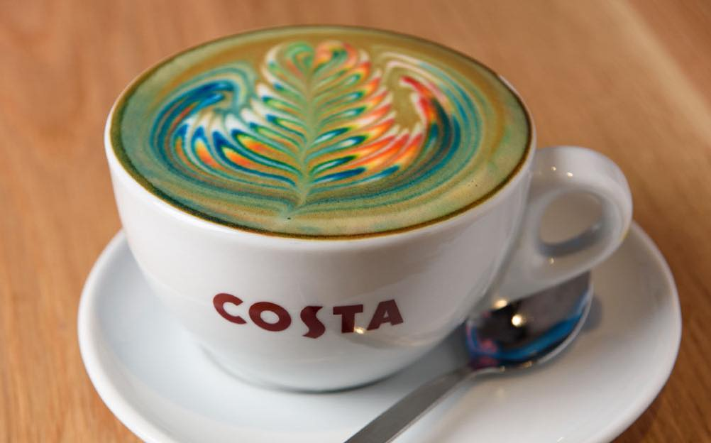 Costa launches rainbow coffees in four cities in support of pride