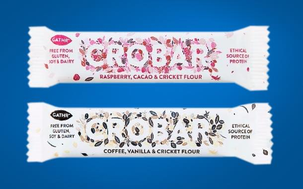 Gathr adds coffee and raspberry flavours to its cricket snack bars