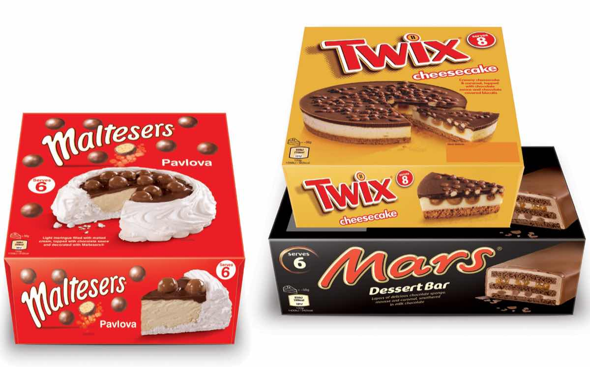 Mars adds three frozen desserts to well loved chocolate for Food bar manufacturers uk