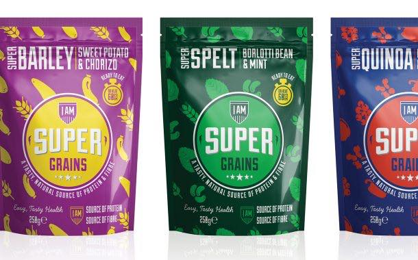 High-protein soup brand adds microwaveable grain pouches