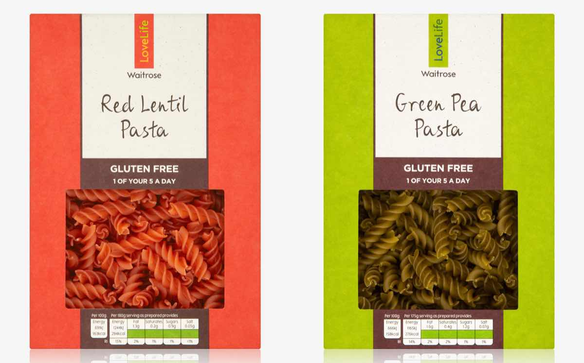 Waitrose launches new pasta in boxes made from food waste