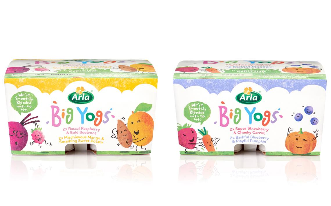 Arla launches fruit and vegetable combination yogurts for children